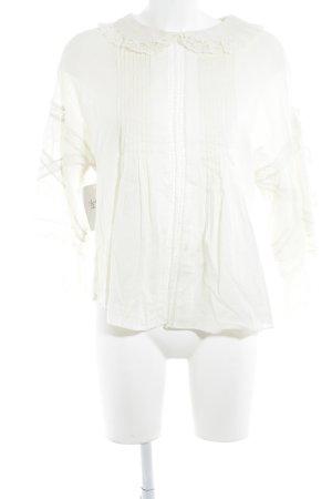 Diesel Blusa in merletto beige chiaro elegante