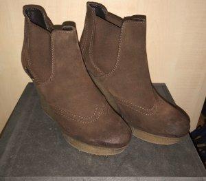 Diesel Heel Boots bronze-colored-brown