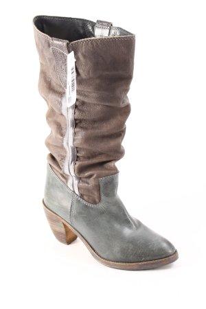 Diesel Stiefel graubraun-graublau Used-Optik
