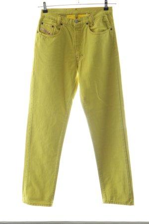 Diesel Straight-Leg Jeans grün Casual-Look
