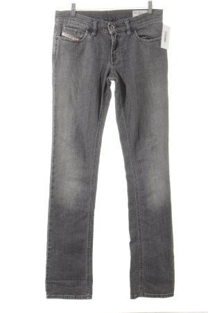 Diesel Straight-Leg Jeans anthrazit Washed-Optik