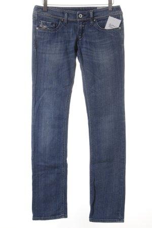 Diesel Jeans a gamba dritta blu stile casual