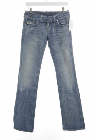 Diesel Straight-Leg Jeans blau Washed-Optik