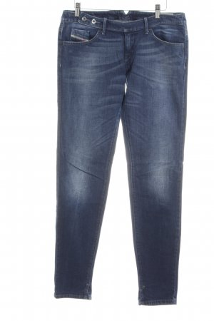 Diesel Straight-Leg Jeans neonblau Washed-Optik