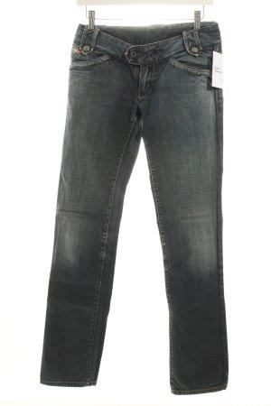 Diesel Straight-Leg Jeans dunkelblau-wollweiß Casual-Look