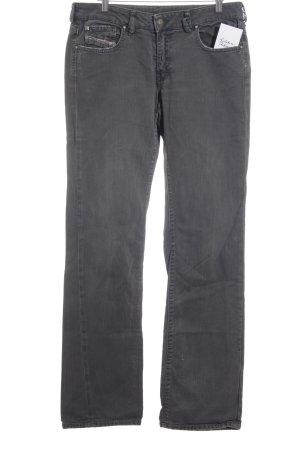 Diesel Straight-Leg Jeans grau Casual-Look