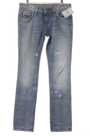 Diesel Straight-Leg Jeans hellblau Casual-Look