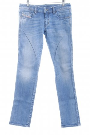 Diesel Straight-Leg Jeans kornblumenblau-wollweiß Washed-Optik