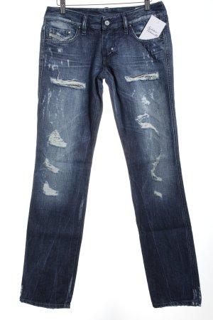 "Diesel Straight-Leg Jeans ""LHELA"" dunkelblau"