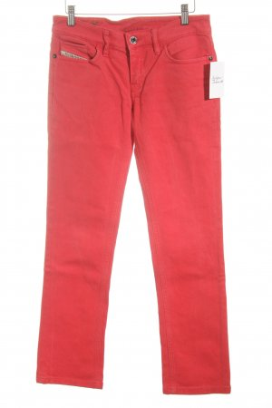 Diesel Straight Leg Jeans red jeans look