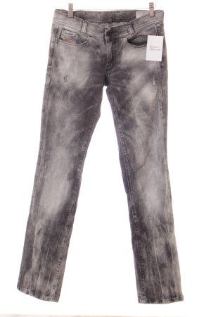 Diesel Straight-Leg Jeans schwarz-hellgrau Farbverlauf Casual-Look