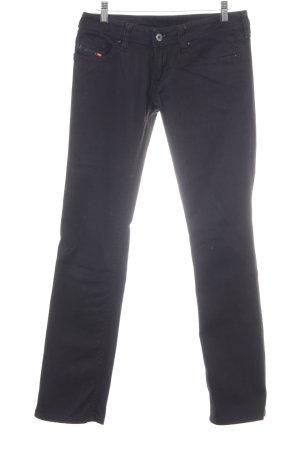 Diesel Jeans a gamba dritta nero-bianco stile casual