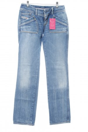 Diesel Straight-Leg Jeans stahlblau Casual-Look