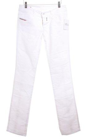 Diesel Straight-Leg Jeans weiß Casual-Look