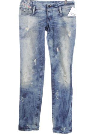 Diesel Stretch Jeans blau-stahlblau Casual-Look