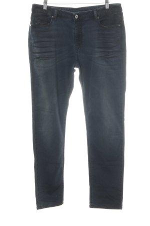 Diesel Stretch Jeans graubraun-dunkelblau Farbtupfermuster Street-Fashion-Look