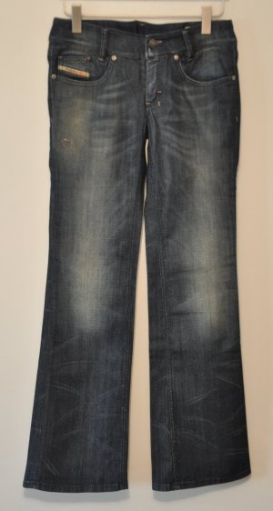 Diesel Stretch Jeans LOUVELY flared Bootcut blau destroyed Details Gr. 31 | 32