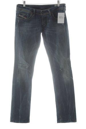 Diesel Stretch Jeans stahlblau Vintage-Look