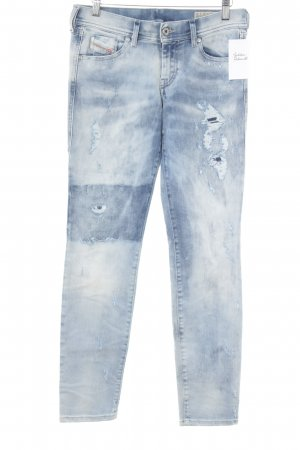 Diesel Stretch Jeans weiß-himmelblau Urban-Look