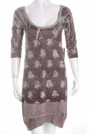 Diesel Stretch Dress grey brown-light grey abstract pattern street-fashion look
