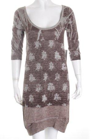 Diesel Stretchkleid graubraun-hellgrau abstraktes Muster Street-Fashion-Look
