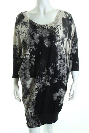 Diesel Strickkleid grau-schwarz florales Muster klassischer Stil