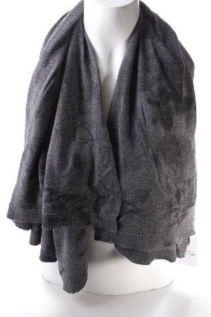 Diesel Strickschal grau-schwarz Farbtupfermuster Casual-Look