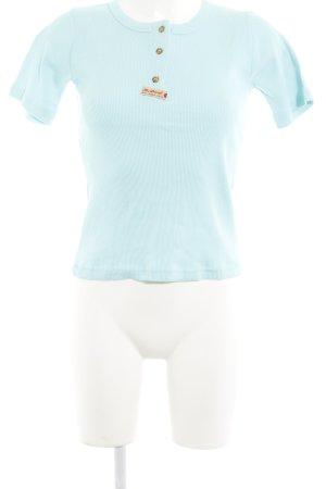 Diesel Strickshirt babyblau Casual-Look