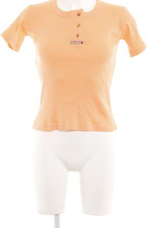Diesel T-shirts en mailles tricotées orange fluo style décontracté