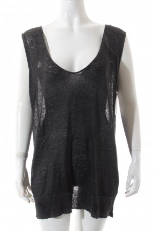 Diesel Stricktop anthrazit Wickel-Look