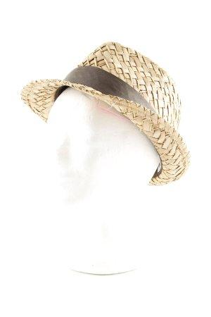 Diesel Straw Hat cream-brown elegant