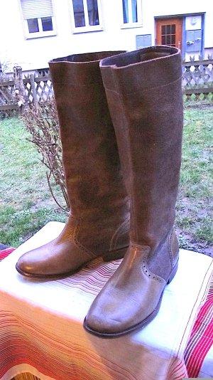 DieselStyleLab Jackboots grey brown leather