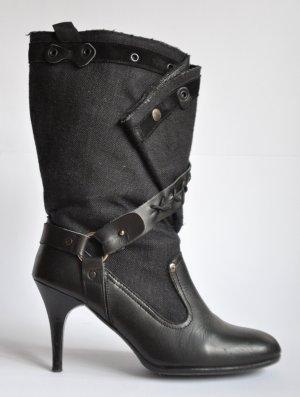 Diesel StyleLab Stiefel Leder Textil schwarz Gr. 40