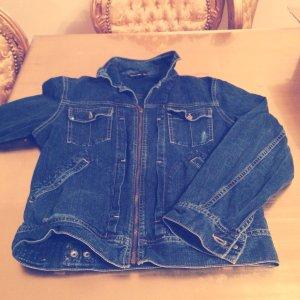 Diesel Stylight Jeans Damen Jacke Blau UVP. 490€ Used-Look !