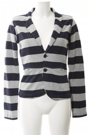 Diesel Sweat Blazer light grey-dark blue horizontal stripes business style