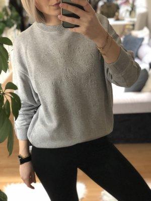 Diesel Sweater mit Diesel Logo, grau