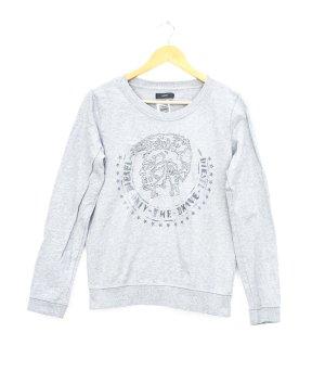 Diesel Sweatshirt lichtgrijs-zwart