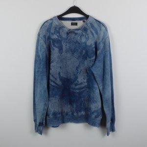 Diesel Sweatshirt Gr. XL blau mit Tiger Motiv (18/10/218)