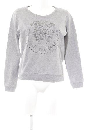 Diesel Sweatshirt grau Motivdruck Casual-Look