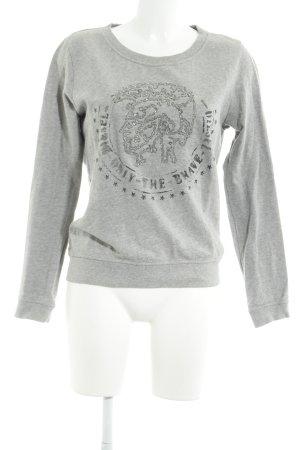 Diesel Sweat Shirt light grey flecked street-fashion look