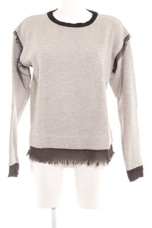 Diesel Sweatshirt hellgrau-schwarz Casual-Look
