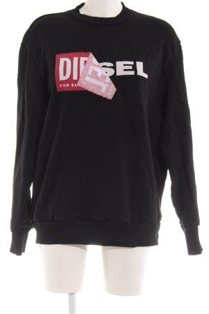 Diesel Sweatshirt schwarz Casual-Look