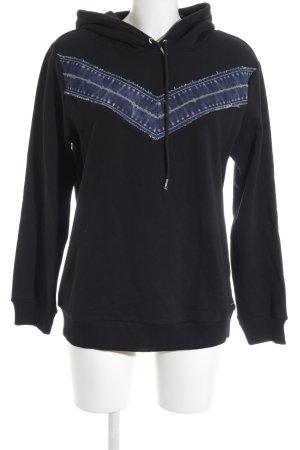 Diesel Sweatshirt schwarz-dunkelblau Casual-Look