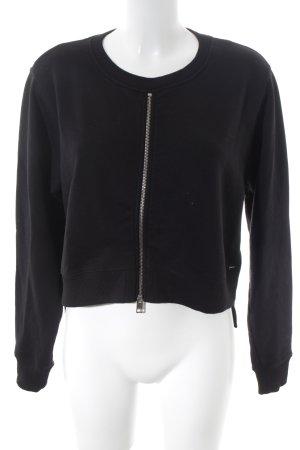 Diesel Sweatshirt schwarz-goldfarben Casual-Look