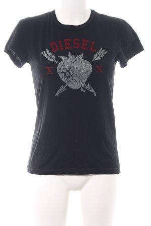 Diesel T-Shirt Schriftzug gedruckt Casual-Look