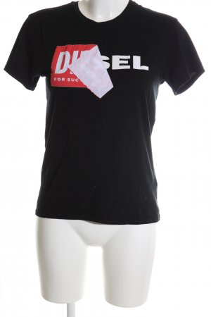 Diesel T-Shirt Motivdruck Casual-Look