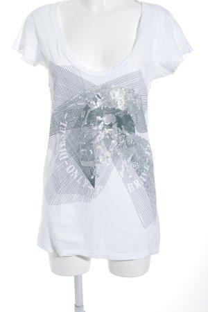 Diesel T-Shirt abstraktes Muster Casual-Look