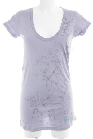 Diesel T-Shirt blasslila Casual-Look