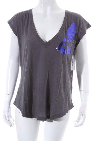 Diesel T-Shirt dunkelgrau-lila Casual-Look