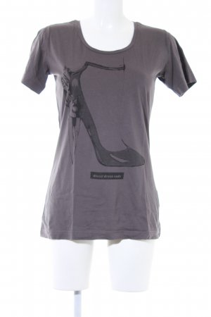 Diesel T-Shirt dunkelgrau-schwarz platzierter Druck Casual-Look
